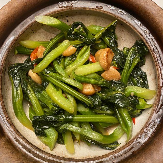 啫啫虾酱芥兰煲 CRUNCHY KALE