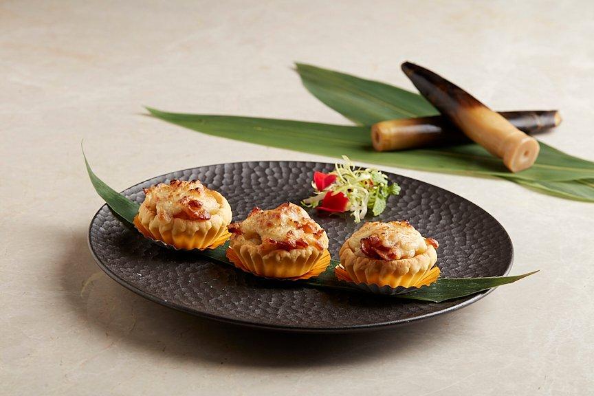 鲜笋培根芝士塔 Oven-baked Bamboo Shoot, Bacon and Cheese Tartlets